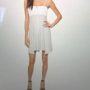 Robert Rodriguez pleat flare zipper dress.
